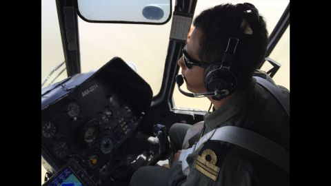 Helicopters are used to spot evidence of smugglers in the Gulf of California.