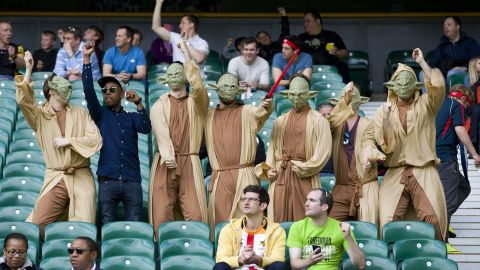 There had been reports fancy dress could be banned for this year by the Rugby Football Union in a bid to curb anti-social behavior by spectators.