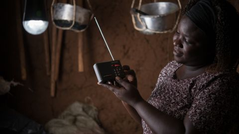 As well as televisions, M-KOPA Solar provides solar solutions for radios, lighting and other appliances for customers in Kenya, Uganda and Tanzania.