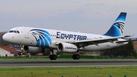 An aviation photographer took this photo of the missing EgyptAir A320 jet on June 11, 2015.