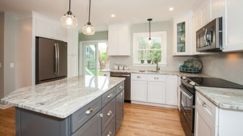 """AFTER: The kitchen, as it looks now. """"The response was unbelievable,"""" Riccio said."""