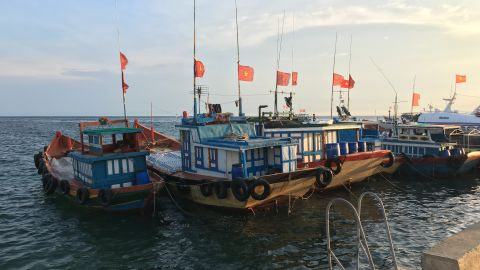 Fishing boats in Ly Son harbor