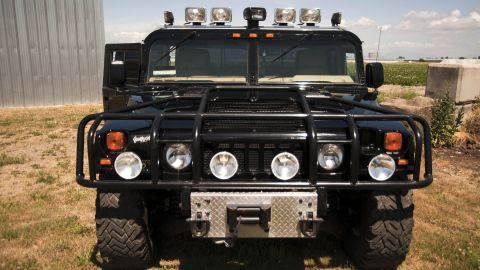The late hip-hop artist Tupac Shakur's Hummer that he purchased three months before his death sold at auction for $337,144, according to Boston-based RR Auction.
