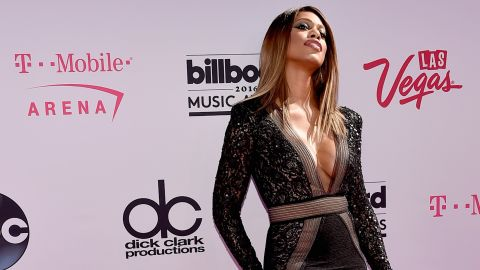 Laverne Cox arrives for the 2016 Billboard Music Awards at on Sunday, May 22 in Las Vegas.