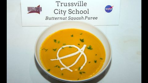 The Trussville City School team made butternut squash puree, which came in second place.