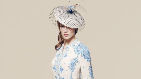 Hat by Harvy Santos, £620 ($905), available at Fenwicks.
