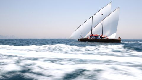 The race starts at Sir Bu Nair island, near the coast of Iran, and finishes close to Dubai's International Marine Club. The route is based on the one pearl divers would have taken on their return journeys.