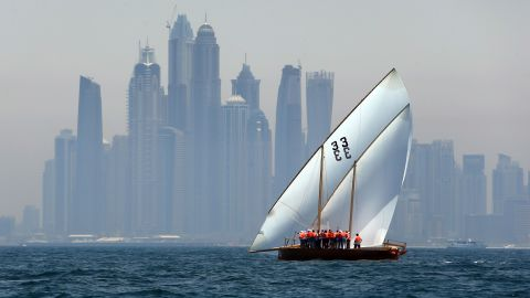 The prize purse for the Al-Gaffal dhow race is Dhs10 million ($2.7 million), with the owner of the winning boat also taking home three luxury cars.