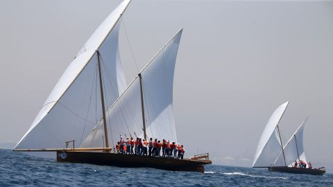 With many Emirati families tracing their roots to the pearl trade, the Al-Gaffal dhow race allows younger generations to keep traditions of the old industry alive. Every crew member participating in the event must be an Emirati.