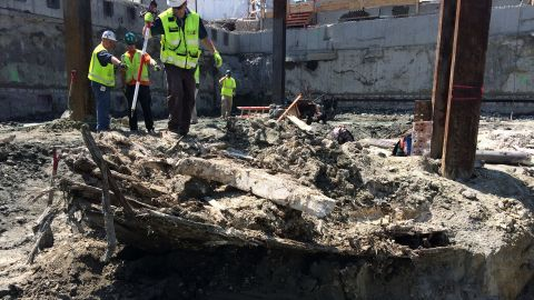 Construction crews discovered a shipwreck last week in Boston.