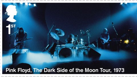 """Pink Floyd seen during """"The Dark Side of the Moon"""" Tour in 1973"""