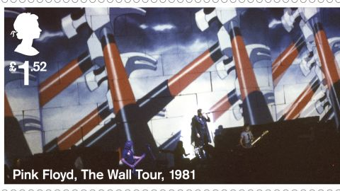 """""""The Wall"""" tour animation of 1981: During the performance, these animations were projected onto a 40 foot-high wall of cardboard bricks that was gradually built between the band and audience."""