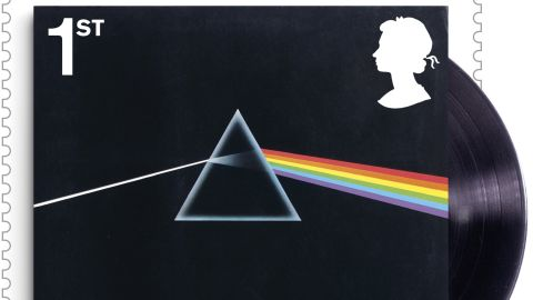 """""""The Dark Side of The Moon"""" album cover, released by EMI Harvest in 1973"""