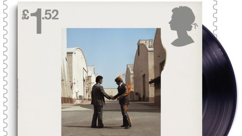 """""""Wish you were here"""" album cover, released by EMI Harvest in 1975"""