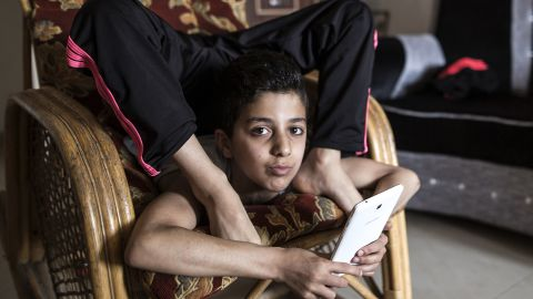 Mohammed is known for his almost unbelievable body contortions.