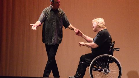 Westerman and dance partner David Mineo.