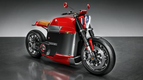 """""""I believe Tesla could build a great motorcycle -- that's why I've done this concept of e motorcycle called """"Model M.""""<br /><br />Slapins imagines the old fuel tank being re-purposed as a luggage compartment for a helmet and electric gadgets. <br />""""The bike could have 150 kW electric engine with four modes of power output -- Race, Cruise, Standard and Eco."""""""