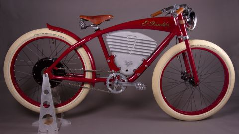 """California-based Vintage Electric have two models of e-bike currently -- the """"Tracker"""" (pictured) and the """"Cruz."""""""