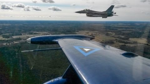 The Belgian F-16s were part of NATO's Baltic Air Policing mission from January to April