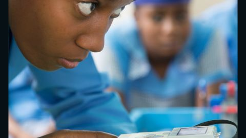 """""""State schools in Nigeria are often understaffed and they are not able to pay for the kits to learn robotics"""", Uzochukwu says. Therefore Odyssey Foundation provides the robotics kits for free. It aims to teach kids to write apps, repair laptops, desktop computers and mobiles. """"So when the children finish school they will not be roaming on the streets,"""" says Uzochukwu, """"because this is what happens to these kids once they finish school they end up on the streets""""."""