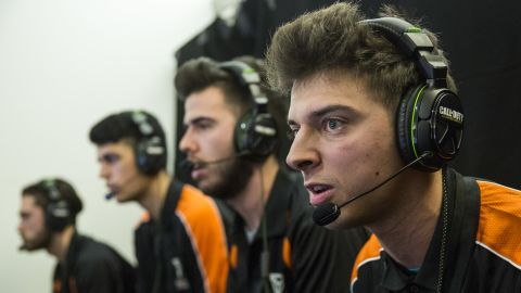 LONDON, ENGLAND - MARCH 01:  Next Gaming Rapid from Italy takes part in a qualifying match at the 2015 Call of Duty European Championships at The Royal Opera House on March 1, 2015 in London, England.  The event sees 28 teams from across Europe and the Middle East compete in order to qualify for the 2015 Call of Duty world finals in Los Angeles on 27 March, 2015. Electronic sports (eSports) are increasing in popularity with over 70 million people regularly streaming eSports tournaments online last year.  (Photo by Rob Stothard/Getty Images)