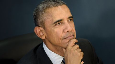 President Barack Obama makes a statement to the press about the hurricane season at the Federal Emergency Management Agency (FEMA) on May 31, 2016 in Washington, DC.