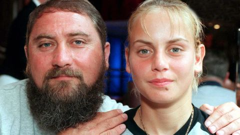 Jelena Dokic with her father Damir shortly before the 2000 Australian Open.