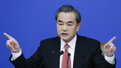 BEIJING, CHINA - MARCH 08:  China's foreign minister Wang Yi attends a press conference during the Fourth Session of the 12th National People's Congress (NPC) on March 8, 2016 in Beijing, China. Hangzhou, China will host the G20 summit on 4 to 5 September 2016.  (Photo by Lintao Zhang/Getty Images)