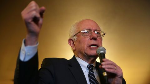 Democratic presidential candidate Sen. Bernie Sanders (I-VT) speaks to voters during a campaign event at Cafe Dodici January 29, 2016 in Washington, Iowa.
