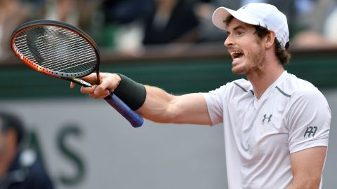 Both Murray and Djokovic were angered on a number of occasions during the match. Murray continued to have trouble with the overhead camera...