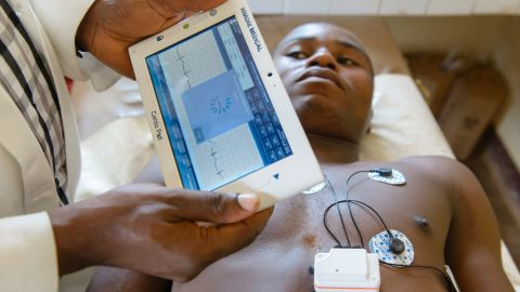 """Cameroonian entrepreneur, Arthur Zang, has invented a touch-screen heart monitoring device that records, and then sends heart activity to a national healthcare center for evaluation. It could have hugely positive potential for rural populations far from hospitals. <br /><br /><a href=""""http://edition.cnn.com/2016/06/06/africa/arthur-zang---cardio-pad-cameroon/index.html"""" target=""""_blank"""">Read more</a> about this device."""