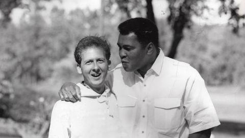 Muhammad Ali with the biographer Davis Miller, a longtime friend.