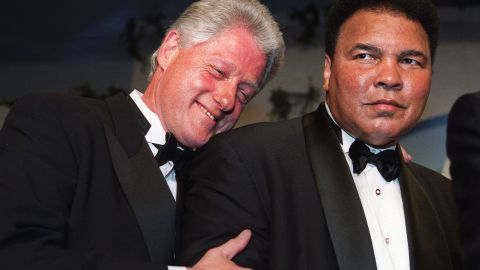 """Former President Bill Clinton will eulogize Muhammad Ali at a memorial service Friday, June 10, in Louisville, Kentucky. Clinton, here with Ali at 2000 gala, awarded the boxing great the Presidential Citizens Medal in 2001. He said he went on """"to forge a friendship with a man who, through triumph and trials, became even greater than his legend."""""""