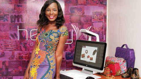 """Hesey Designs creative director Eseoghene Odiete says now is a great time to have a business in Nigeria. She says of her handbag and shoe company: """"Local patronage has increased. Nigerians are looking inwards to purchase items they would otherwise have gotten from other countries."""""""