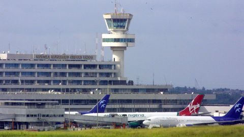"""Murtala Mohammed International Airport in Lagos, where United Airlines recently announced it won't fly to anymore. Nigeria is said to owe airlines nearly $600 million in airline fares, according to the <a href=""""http://www.iata.org/pressroom/pr/Pages/2016-06-02-03.aspx"""" target=""""_blank"""" target=""""_blank"""">International Air Transport Association</a>."""
