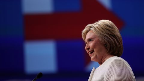 BROOKLYN, NY - JUNE 07:  Democratic presidential candidate former Secretary of State Hillary Clinton speaks during a primary night event on June 7, 2016 in Brooklyn, New York.  Hillary Clinton beat rival Bernie Sanders in the New Jersey presidential primary
