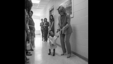 """After Clinton became the Democratic Party's presumptive nominee, this photo was posted to her official Twitter account. """"To every little girl who dreams big: Yes, you can be anything you want -- even president,"""" Clinton said. """"Tonight is for you."""""""