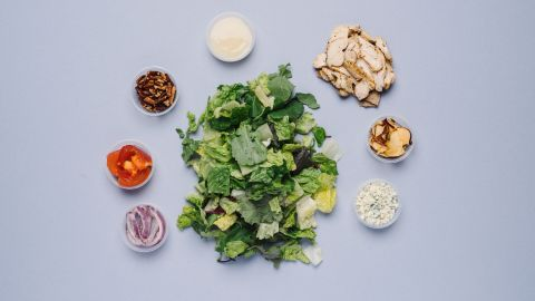 For those looking for something low in gluten, the Fuji apple chicken salad is tasty.