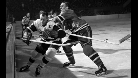 """Hockey legend <a href=""""http://www.cnn.com/2016/06/10/us/gordie-howe-dies/index.html"""" target=""""_blank"""">Gordie Howe</a>, left, scored 801 goals in his NHL career and won four Stanley Cups with the Detroit Red Wings. Howe, also known as """"Mr. Hockey,"""" died June 10 at the age of 88, his son Marty said."""