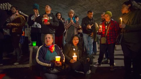 People gather in Sao Paulo, Brazil, to mourn the Orlando victims on June 12.