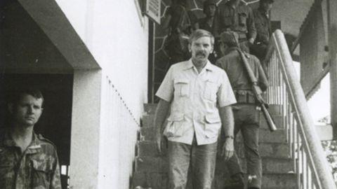 Martha Peterson's late husband, John, in Laos in 1972