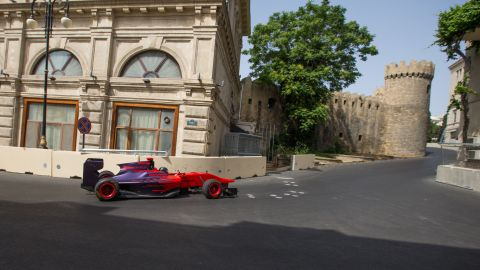 """The first racer to test the Baku layout was hometown hero Gulhuseyn Abdullayev, who drove a GP3 car, """"Just like the F1 drivers enjoy city circuits in Monaco and Singapore, they will like Baku -- although it is faster,"""" he told CNN."""