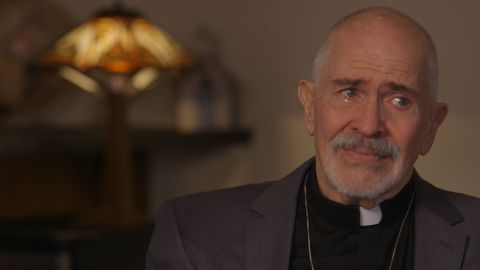 """The Rev. Elder Troy Perry weeps in a 2015 documentary, """"Upstairs Inferno,"""" which tells the largely overlooked story of the 1973 New Orleans arson attack."""