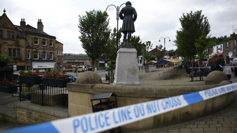 """Police tape covers the area in Birstall where Labour MP Jo Cox was shot on June 16, 2016.Campaigning for Britain's EU referendum next week was suspended on Thursday following news a leading MP with the """"Remain"""" camp was in a critical condition after being shot.Jo Cox, a 41-year-old mother-of-two from the opposition Labour Party, was left bleeding on the pavement after the incident in the town of Birstall in northern England, according to witnesses quoted by local media. / AFP / OLI SCARFF        (Photo credit should read OLI SCARFF/AFP/Getty Images)"""