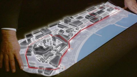 """The track layout was designed by Hermann Tilke. The German architect  spoke to CNN about his plans before the historic Baku race. <a href=""""http://edition.cnn.com/videos/tv/2016/06/16/f1-baku-track-tilke.cnn"""">Watch here</a>"""