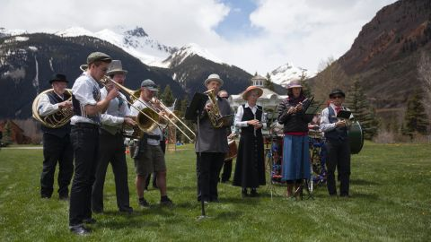 A live oompah band and a Memorial Day ceremony were part of the 2016 celebrations.