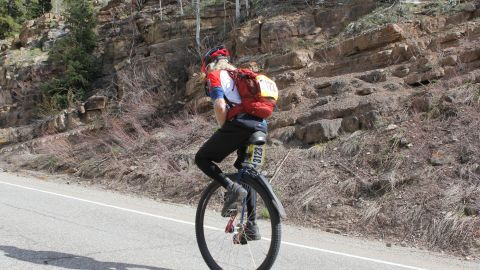 In 2016, one racer did the course on a large unicycle.