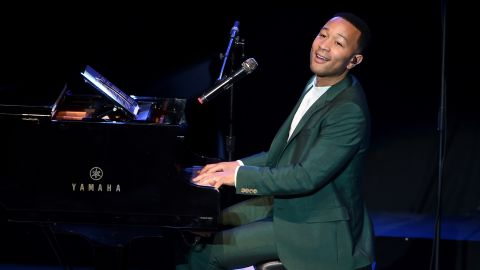 """Musician John Legend performs onstage during the """"Hillary Clinton: She's With Us"""" concert in June at The Greek Theatre in Los Angeles."""
