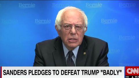 Bernie Sanders pledges to defeat Donald Trump vosot cnni_00001617.jpg
