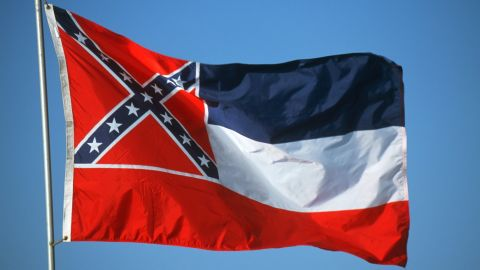 The current Mississippi state flag was adopted in 1894.